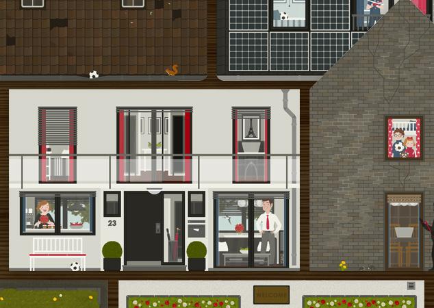 Bausatz für das Häuschen aus Pappe für die Bausparer der Stadtsparkasse Wuppertal