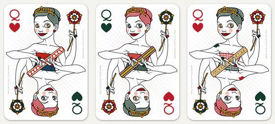 uswahl von Korsetten und Schärpen für die Herzdame Spielkarte für 52 Aces Reloaded von Zeixs