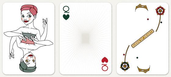 Ebenen und Details wie Schmuck und Tudor Rose für die Herzdame Spielkarte für 52 Aces Reloaded von Zeixs