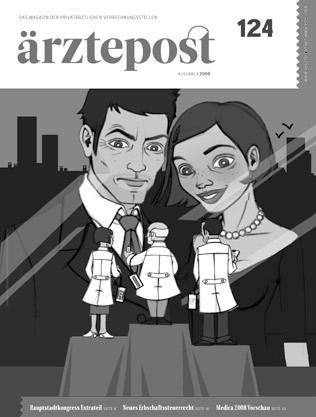 Schwarzweiße Skizzen im Layout für Making of Coverillustration für Ärztepost