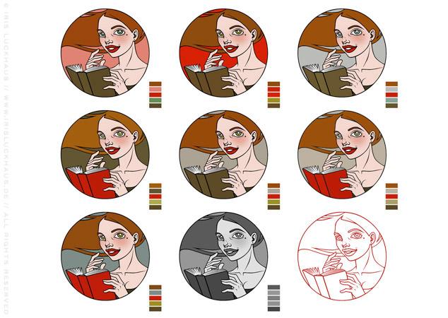 Making of Farbschema und Corporate Identity für Literatina