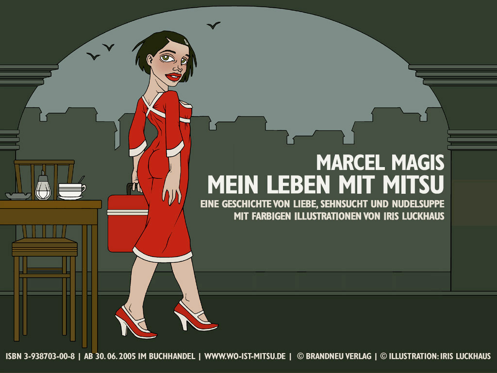 Wallpaper Abschied für die Website zum Buch Mein Leben mit Mitsu von Marcel Magis