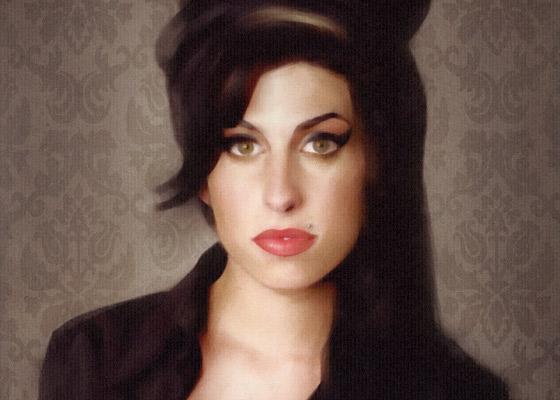 Gemaltes Portrait von Amy
