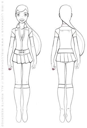 Skizzen für Character Design und Kostüme für das Supergirl für SIX Accessories