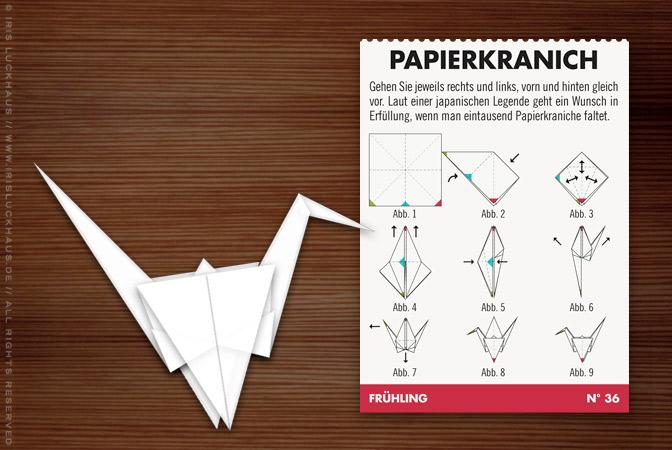 Lily Lux Falt Anleitung Origami Papierkranich