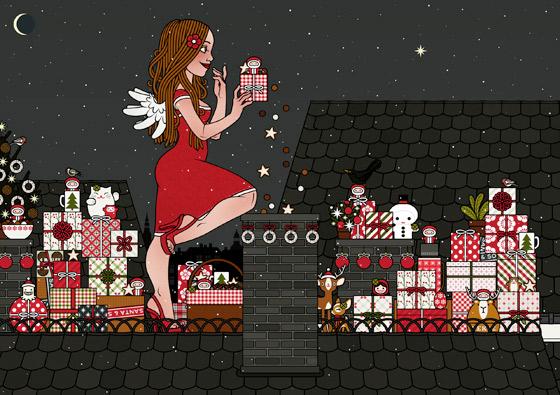 Lily Lux Weihnachtskarte mit Engelchen