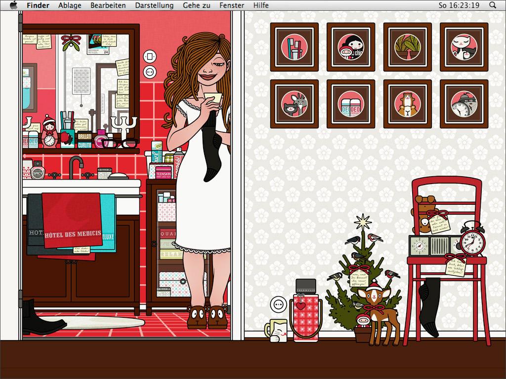 Lily Lux Wallpaper mit Spurenlesen für den Winter