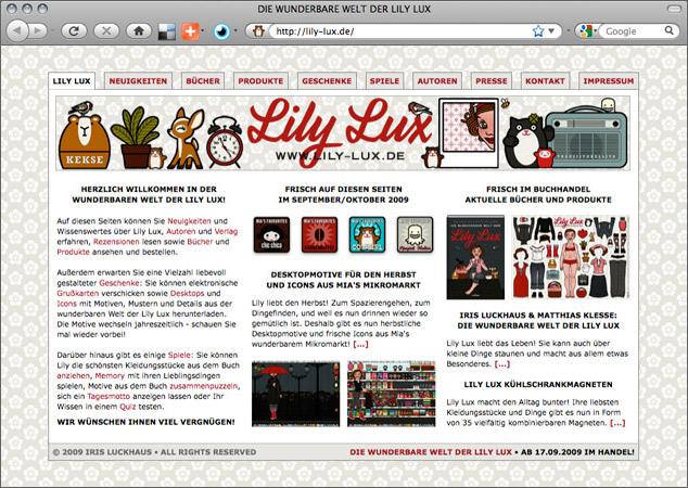 Startseite für Lily Lux Online