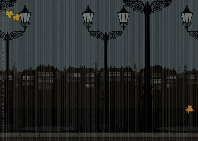 Straße und Bürgersteig als Hintergrund zur Raumgestaltung und als Seitenlayout für Lily Lux