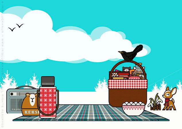 Winterpicknick für Lily Lux