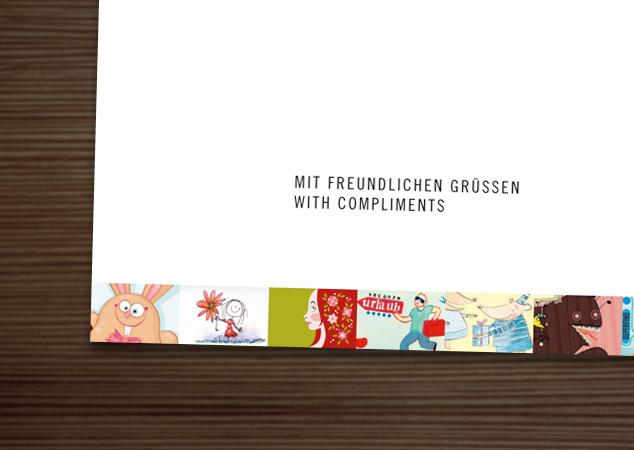 Maimädchen auf der IO Compliments Card