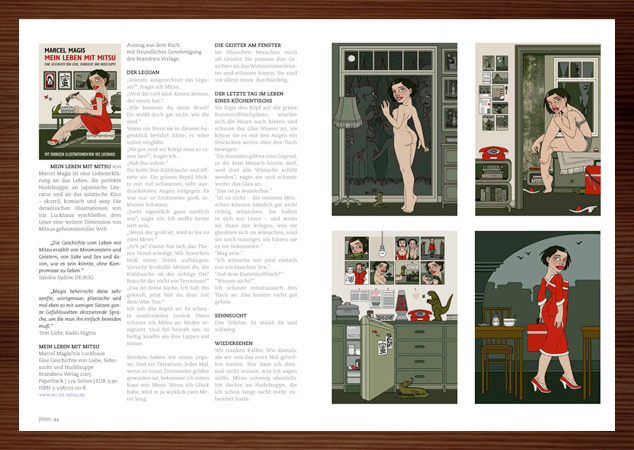 Iris Luckhaus mit Mein Leben mit Mitsu im Jitter Magazin