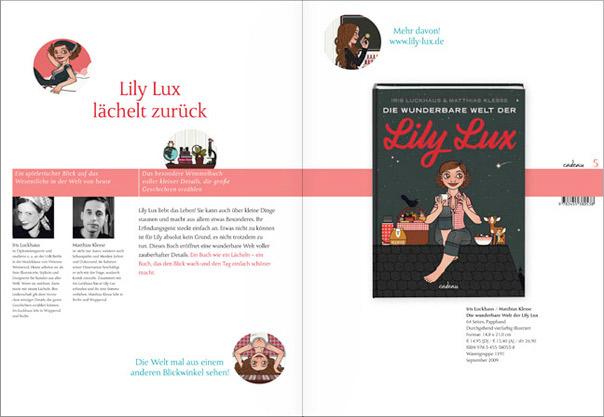 Buch Die wunderbare Welt der Lily Lux in der Verlagsvorschau von Hoffmann und Campe