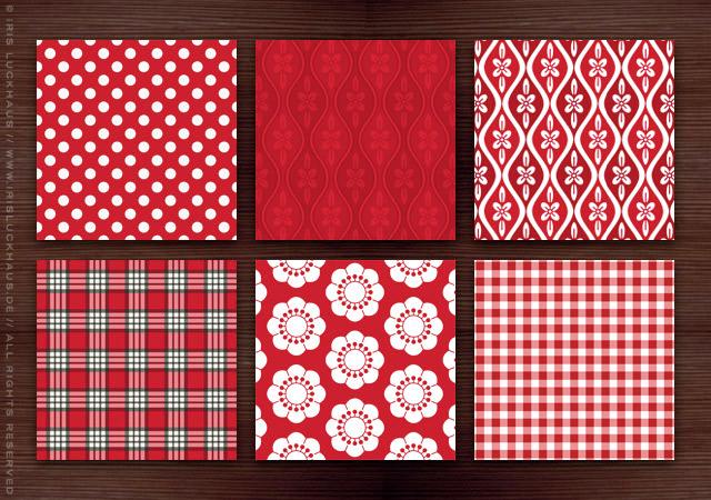 Muster für Stoffe, Tapeten und Kleider für die Nachbarin für die Bettgeschichten Anthologie