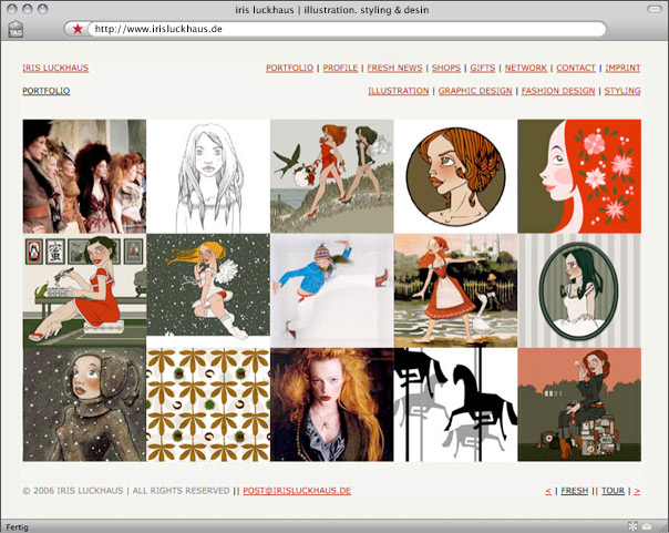Webdesign Vorschau 2006