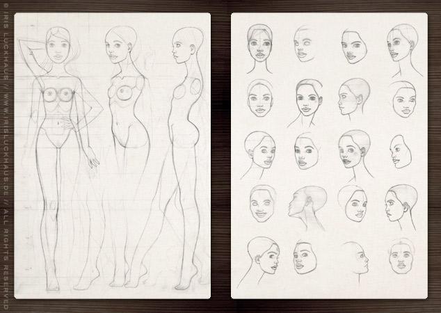 Characterdesign für ein Modelmädchen