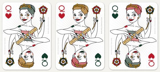 Farbvarianten für die Herzdame Spielkarte für 52 Aces Reloaded von Zeixs