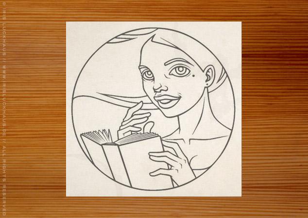 Making of Logo für Literatina in schwarzweiss