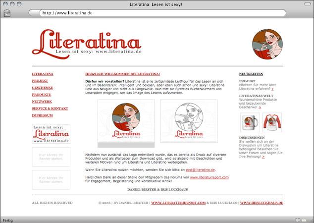 Webdesign für Literatina