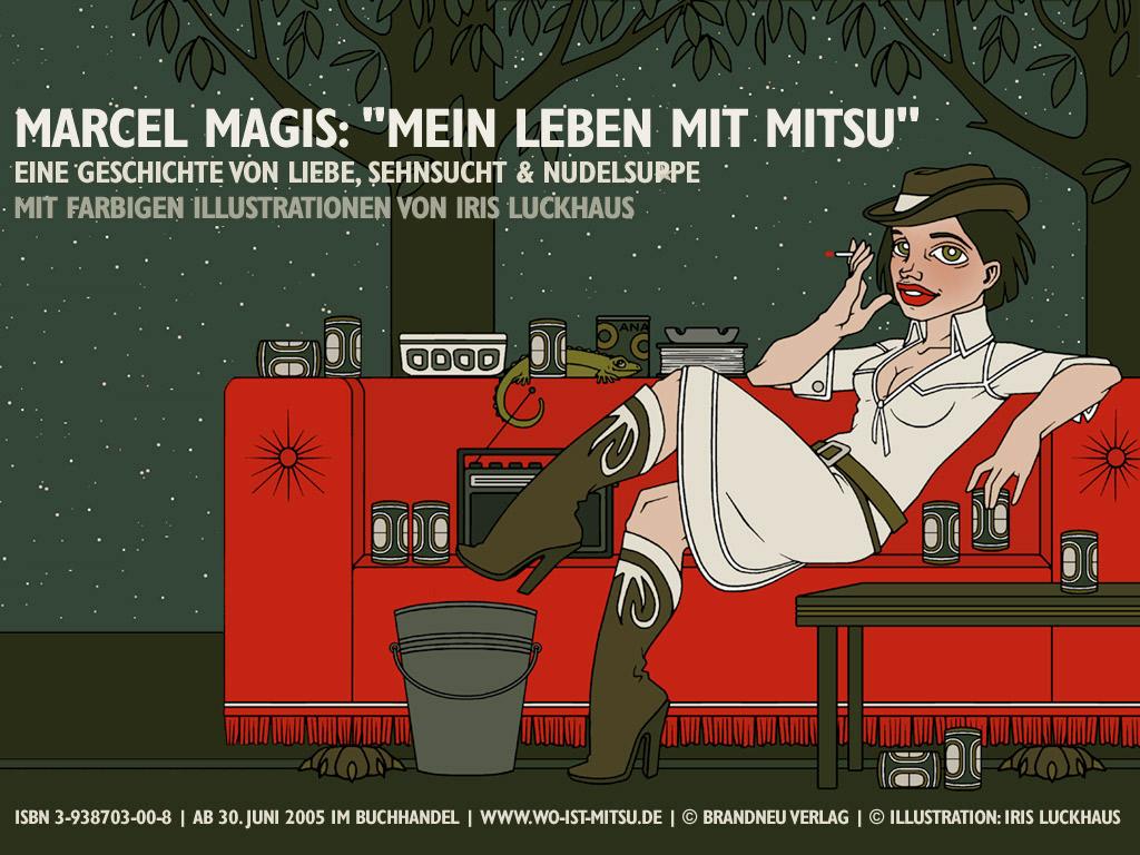 Wallpaper Cowgirl für die Website zum Buch Mein Leben mit Mitsu von Marcel Magis