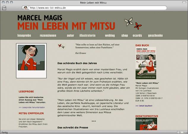 Website zum Buch Mein Leben mit Mitsu von Marcel Magis
