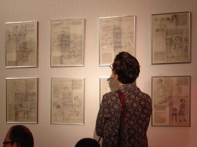 Fotos der Book Release Party mit Lesung und Ausstellung zu Mein Leben mit Mitsu von Marcel Magis und Iris Luckhaus