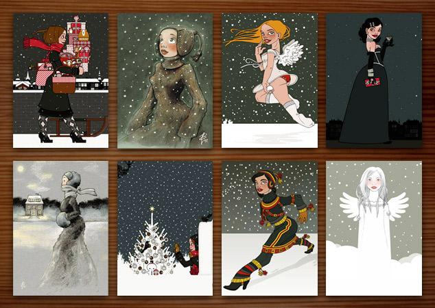 Zehn Jahre Weihnachtskarten