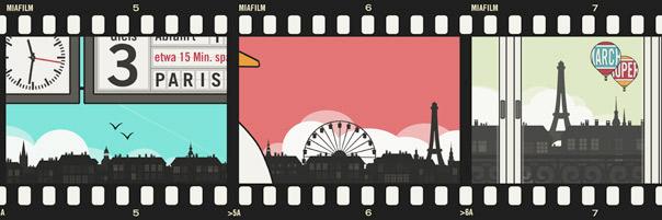 Farbenfroher Fotostreifen von Lily Lux Bildern aus dem Urlaub in Paris, am See mit Schwanentretboot und der Reise mit dem Zug am Bahnhof