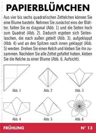 Anleitung zum Basteln und Falten von Papierblümchen