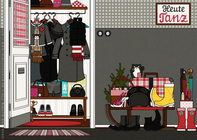 Diele und Hausflur als Hintergrund zur Raumgestaltung und als Seitenlayout für Lily Lux