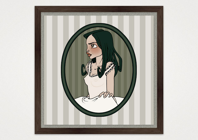Kunstdruck von Nana im Nachthemd (Sleeping Beauty) für die Posterlounge