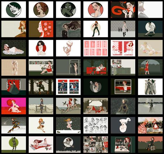 Auswahl von Arbeiten für TV Feature Un mundo ilustrado (An illustrated world) by RCTV