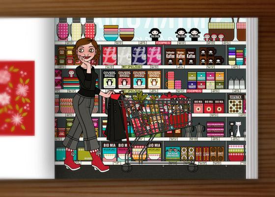 Lily Lux im Supermarkt im IO Sedbook