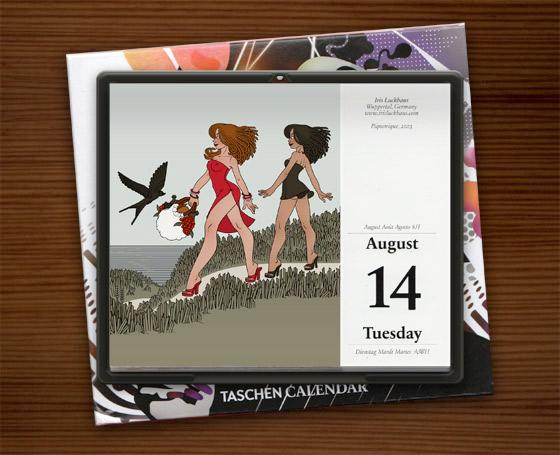 Picknick im Taschen Tear-Off Kalender zum Buch Illustration Now!