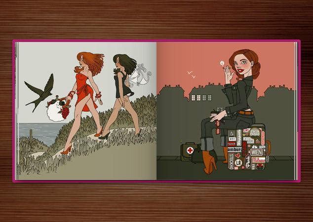 Iris Luckhaus im Zeixs Cube Illustration
