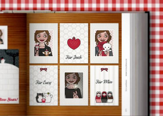 Lily Lux Geschenkanhänger Kärtchen im Zeixs Cube Best of Greeting Cards