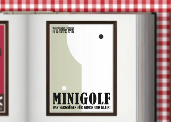 Lily Lux Minigolf im Zeixs Cube Posterdesign