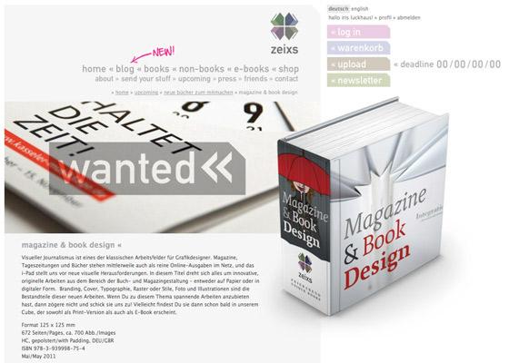 Lily Lux mit Regenschirm auf dem Buchrücken von Zeixs Cube Magazine & Book Design