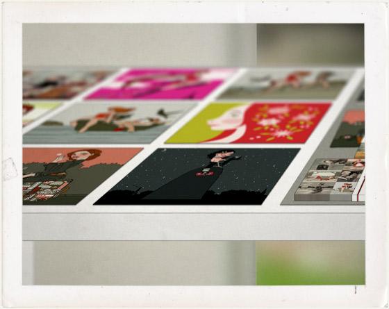 Planung der Ausstellung auf Tischen von Iris Luckhaus für die Franfurter Buchmesse mit Heimat, Sixgirl, Picknick, Maimädchen, Träumen von Berlin, Koffer in Berlin, Mary Martini, Prinzessin am See, Wintermädchen, Eisläuferin, Weihnachtsengel, Hexenstunde, Postkarten und Visitenkarten zum Mitnehmen