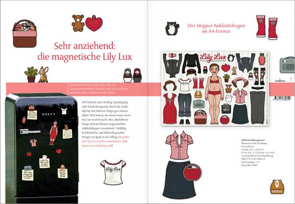 Lily Lux Kühlschrankmagneten in der Verlagsvorschau von Hoffmann und Campe
