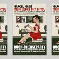 Plakate für Book Release Party für Mitsu