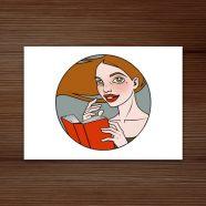 Literatina Postkarte (weil Schreiben auch sexy ist!)