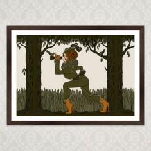 Art Print Chasseresse