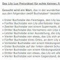 Text für das Lily Lux Worträtsel