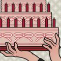 Lily Lux Passbild mit riesiger Torte