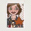 Lily Lux Grußkarte für den Herbst