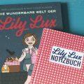Foto von den Büchern Die wunderbare Welt der Lily Lux und Lily Lux Notizbuch