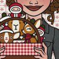 Lily Lux Passbild mit Picknickkorb zu Nikolaus