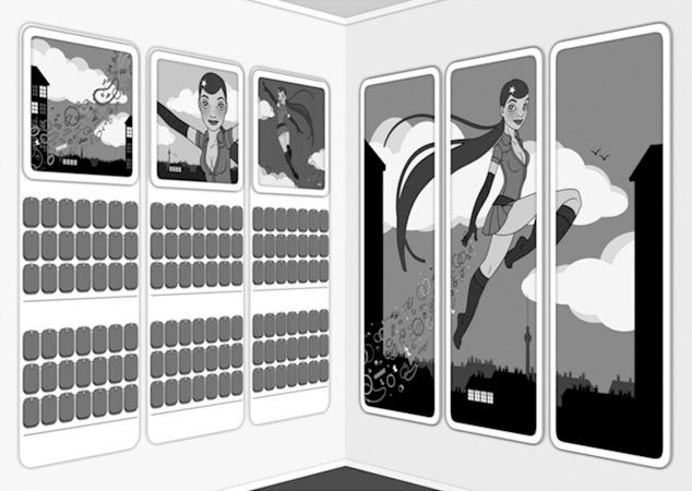 IO-Sedcard 2011 mit Supergirl für SIX von Iris Luckhaus