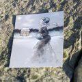 Foto der Eisläuferin Postkarte
